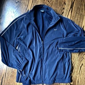 Nike Lightweight Windbreaker Blue Jacket, L EUC